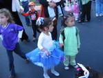 Stella the dinosaur with Derin the princess ballerina